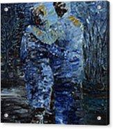 Looking At The Moon Acrylic Print