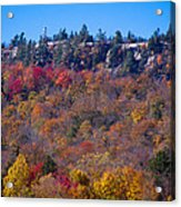 Looking At The Top Of Bald Mountain Acrylic Print