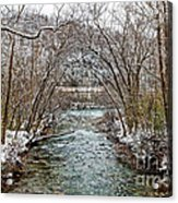 Looking Down Clifty Creek Acrylic Print