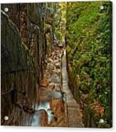 Looking Down Flume Gorge Acrylic Print