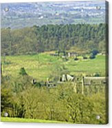 Looking Down On Cotton From Ribdon Acrylic Print