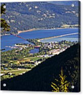 Looking Down On Sandpoint Acrylic Print