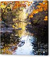 Looking Down The Eno River Acrylic Print
