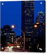 Looking Down The Mass Pike From The Brookline Ave Bridge Acrylic Print