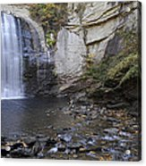 Looking Glass Falls With Trout Fishing - North Carolina Waterfalls Series Acrylic Print