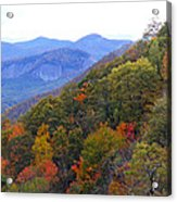 Looking Glass Rock And Fall Colors Acrylic Print