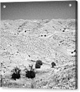 Looking Off Into The Desert At Matmata Tunisia Acrylic Print