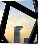 Looking Out From The Birds Nest - Beijing China Acrylic Print