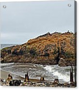 Looking Out On The Pacific Ocean From The Sutro Bath Ruins In San Francisco  Acrylic Print
