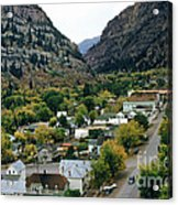 Looking Over Ouray From The Sutton Mine Trail Circa 1955 Acrylic Print