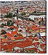Looking Over Prague Acrylic Print