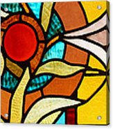 Looking Through Stain Glass Acrylic Print by Thomas Fouch