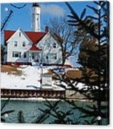 Looking Through The Pines - Sturgeon Bay Coast Guard Station Acrylic Print