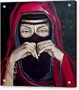 Looking Through Niqab Acrylic Print