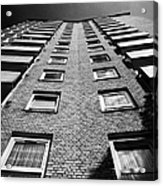 looking up at stangate house 1950s tower block flats housing lambeth London England UK Acrylic Print