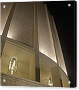 Looking Up Founders Hall At Night Acrylic Print