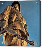 Looking Up To A Hero In Pueblo Colorado Acrylic Print