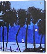 Looming Shore At Night Acrylic Print