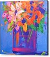 Loosey Goosey Flowers Acrylic Print