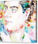 Lord Byron - Watercolor Portrait Acrylic Print
