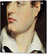 Lord Byron Acrylic Print by William Essex
