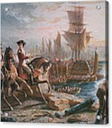 Lord Howe Organizes The British Evacuation Of Boston In March 1776 Acrylic Print by English School