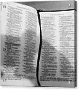 Lord Is My Shepherd Acrylic Print