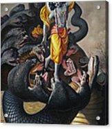 Lord Krishna Subdueing Kaliya Acrylic Print