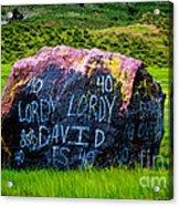 Lordy Lordy Acrylic Print by Jon Burch Photography