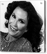Loretta Lynn Close Up Acrylic Print by Retro Images Archive
