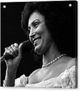Loretta Lynn Singing  Acrylic Print