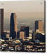 Los Angeles In Silver Light Acrylic Print
