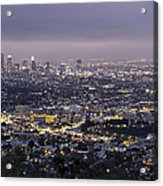 Los Angeles At Night From The Griffith Park Observatory Acrylic Print