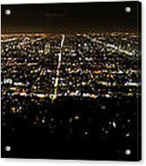 Los Angeles At Night Acrylic Print