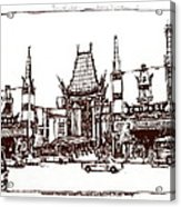 Hollywood's Chinese Theater Landmark.          Acrylic Print