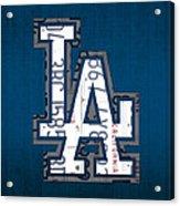 Los Angeles Dodgers Baseball Vintage Logo License Plate Art Acrylic Print