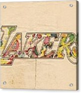 Los Angeles Lakers Logo Art Acrylic Print