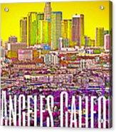 Los Angeles Postcard Acrylic Print