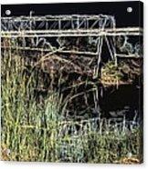 Los Angeles River / Crayola Effect Acrylic Print