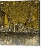 Los Angeles Skyline Abstract 4 Acrylic Print