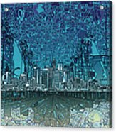 Los Angeles Skyline Abstract 5 Acrylic Print
