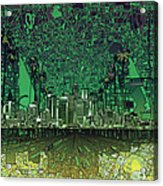 Los Angeles Skyline Abstract 6 Acrylic Print
