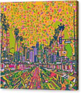 Los Angeles Skyline Abstract Acrylic Print