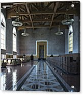 Los Angeles Union Station Original Ticket Lobby Acrylic Print