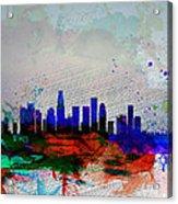 Los Angeles  Watercolor Skyline 1 Acrylic Print