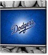 Los Angles Dodgers Acrylic Print by Joe Hamilton