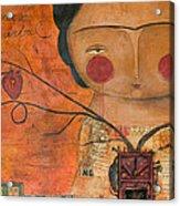 Los Corazones De Mi Arbol Acrylic Print by Thelma Lugo