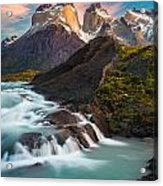 Los Cuernos Rising Acrylic Print