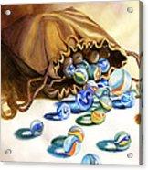 Losing My Marbles Acrylic Print by Daydre Hamilton