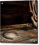 Lost  Horseshoe Acrylic Print by Olivier Le Queinec